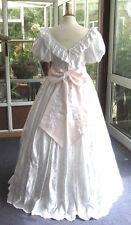 Vestido de boda Vestido de fiesta Vintage blanco 12 - 14 etapa de Lentejuelas Disfraz Baile noche