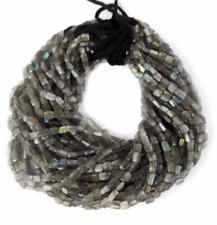 2 Strands Natural Labradorite Smooth Square 6x4mm 13'' Long Gemstone Beads