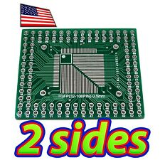 [2x] Double Sided SMD QFN QFP32 to 100 Breadboard Adapter Breakout PCB Converter