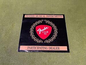 Vintage Fender Musical Instruments Club 95 Dealer Sticker Circa 1995 Unused