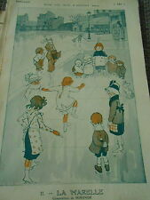 Les jeux d'argent La Marelle enfants composition de Mirande Art Print