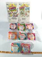 McDonalds 1997 Nickelodeon Tangle Twist A Zoid 8 Toys Complete Happy Meal & Bags