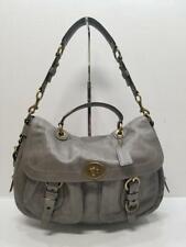 Coach 12655 Legacy Garcia Gray Leather Top Handle Turn Lock Shoulder Bag Purse