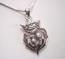 The Thistle Scottish National Flower Pendant 925 Sterling Silver