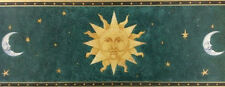 3 Rolls of Imperial WallPaperBorder Stars & Moons on Green background/DX37A/34