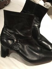 Clarks Ladies Black Leather Ankle Boots Uk 6.5