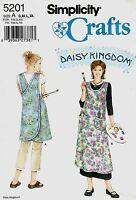 2004 Daisy Kingdom Apron Sewing Pattern S/M/L/XL Simplicity 5201 OOP
