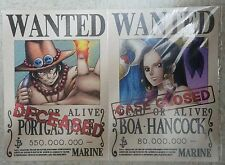 Official Mugiwara Store One Piece Wanted Bounty Poster: Ace + Boa Hancock
