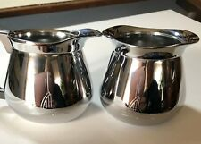 Vintage Sunbeam stainless creamer/sugar set with Kromex Stainless Tray