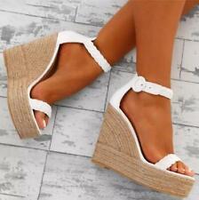 Womens Fashion Wedge Heels Ankle Strap Platform Sandals High Heel Summer Shoes
