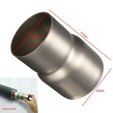 """Welding Steel Motorcycle Exhaust Pipe Adapter Reducer Tube Connector 2.36"""" to 2"""""""