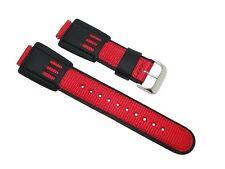 16mm Casio G-Shock Style Black/Red Watch Band/Strap