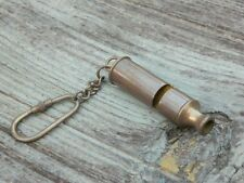 BRASS ANCHOR WHISTLE KEY CHAIN VINTAGE COLLECTIBLE NAUTICAL MARINE KAY RING NEW