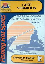 Lake Vermilion Detailed Fishing Map, GPS Points, Waterproof, Depth Contour #L147