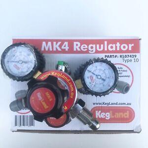 Kegland Mix Gas Nitrogen Primary Regulator Cylinder Mounted Pushfit Keg Beer