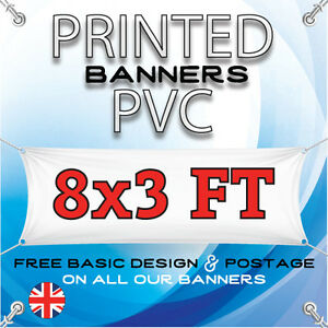 8 X 3 FT PVC BANNERS - OUTDOOR SIGN - ADVERTISING VINYL BANNER - BIRTHDAY PARTY