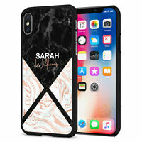 Personalised Marble Initials Phone Case Cover For iPhone Samsung Huawei B071-7
