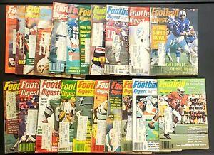Lot of 50 Vintage Football Digest Magazines ~ 1974 - 1980