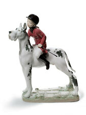 LLADRO GIDDY UP DOGGY GIRL FIGURINE #8523 BRAND NIB CUTE PORCELAIN SAVE$$ F/SH