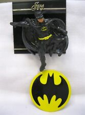 Vtg New Batman Pin Button Brooch & Batman Logo Pin DC Comics West Germany Nos
