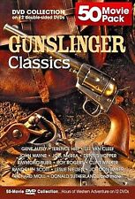 Gunslinger Classics 50 Movie Pack (DVD, 2005, 12-Disc Set) discs LN condition