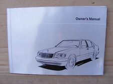 Mercedes 1405840281 Book S Class Owner's Manual   W140 S Class All Models