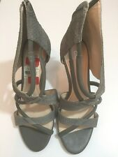 Calvin Klein Olive Green Grey Suede Leather Stiletto Heels - New Size 6.5