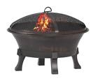 Hampton Bay 26 in. Del Oro Cast Iron Fire Pit Backyard Patio Event Camp Smores
