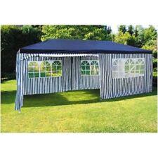 Tendone 6x3m Blu-Bianco Padiglione Campeggio Partypavillon Del Giardino Tenda