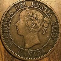 1859 CANADA LARGE CENT PENNY LARGE 1 CENT COIN