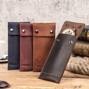 Soft Genuine Leather Watch Travel Storage Case Watch Pouch Watch Storage Bag Box