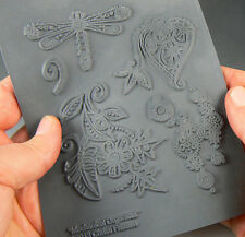 Mechanical Organical  fun Polymer clay texture stamps by Christi Friesen