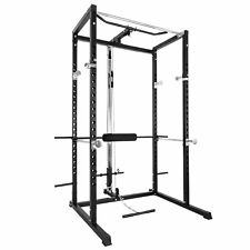 BD-7 Power Rack w/Lat Pull Attachment 250lb Athletics Fitness Olympic Squat Cage