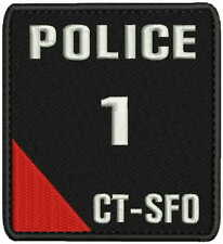 Police 1 CTSFO embroidery patches 4x4.5 hook