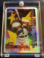1996 BARRY BONDS TOPPS CHROME REFRACTOR #10 GIANTS SHARP (601)