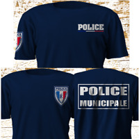 New Police Municipale France Police Department Gendarmerie Navy T-SHirt S-4XL