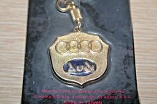 NAPA Vintage AUDI Metal Car Keychain Key Holder Fob Solid Brass NEW IN PACKAGE