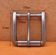 Belt Buckle Fits 40mm Belt Strap Antiqued Silver Single Prong Replacement Roller