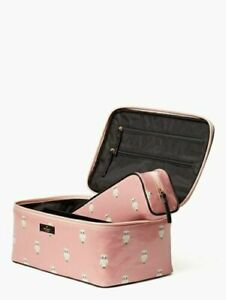 NWT Kate Spade Daycation Painterly Owl Large Colin Cosmetic Travel Case