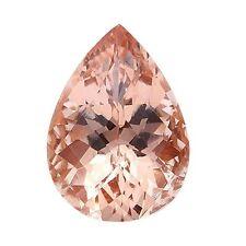 5.35ct 14x10mm Natural Pear Cut Morganite Loose Gemstones