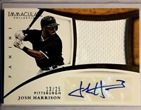 2015 Immaculate Collection JOSH HARRISON Autograph Jersey Patch /25 Prime