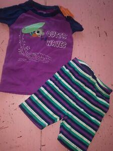 New nip Gymboree Gymmies 8 boy pajamas short sleeve surfing koala 18-24 mo