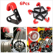 "6Pcs 35KG Metal Bolt on ""J"" Wheel Rim Hub Display Wall Mounted Hanging Hooks"