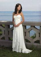 hübsches Brautkleid Hochzeitskleid Kleid Braut Chiffon Babycat collection M18