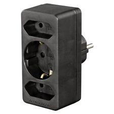 Hama 3-Way Multi-Plug, 2 Euro/1 socket with earth contact - EU/2Pin Plug **NEW**