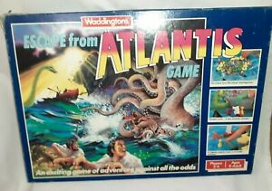 RARE Escape from Atlantis Board Game Waddingtons Complete