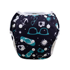 AlvaBaby Reusable Swim Diaper Washable Breathable Cover For 10-40lbs Boys