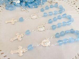60 Baptism Favors Blue  Tiny Hearts/Recuerdos De Bautizo Azul  /party Favors