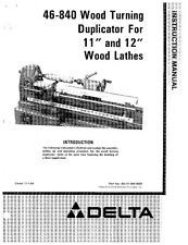 "Delta Rockwell 46840 Wood Turning Duplicator 11"" and 12"" Wood Lathes"
