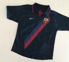 BARCELONA FC 2002/04 Away Football Shirt Youth YS Nike Vintage Soccer Jersey